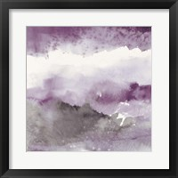 Midnight at the Lake III Amethyst and Grey Fine-Art Print