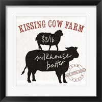 Farm Linen Cow Black Fine-Art Print
