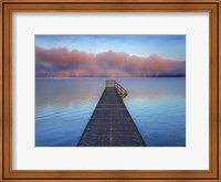 Boat Ramp and Fog Bench, Bavaria, Germany Fine-Art Print