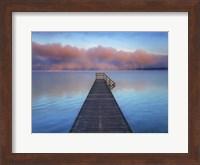 Boat Ramp and Fog Bench, Bavaria, Germany Fine-Art Print