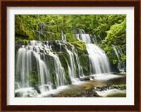 Waterfall Purakaunui Falls, New Zealand Fine-Art Print