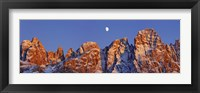 Pale Di San Martino And Moon, Italy Fine-Art Print