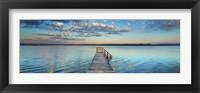 Boat Ramp And Filigree Clouds, Bavaria, Germany Fine-Art Print