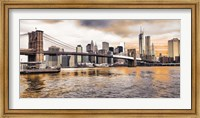 Brooklyn Bridge and Lower Manhattan at sunset, NYC Fine-Art Print
