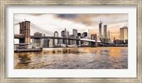 Brooklyn Bridge and Lower Manhattan at sunset, NYC Fine-Art Print