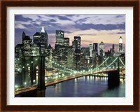 Brookyn Bridge and Downtown skyline, NYC Fine-Art Print