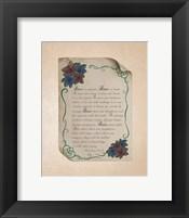 Corinthians 13:4-8 Love is Patient - Rose Border Beige Fine-Art Print
