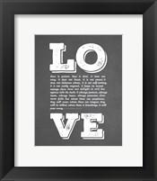 Corinthians 13:4-8 Love is Patient - Chalkboard Fine-Art Print
