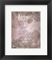 Corinthians 13:4-8 Love is Patient - Grey Leaves Fine-Art Print