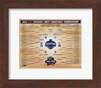 Villanova Wildcats 2016 NCAA Men's Basketball National Champions Bracket Fine-Art Print
