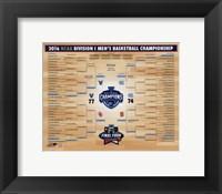 Villanova Wildcats 2016 NCAA Men's Basketball National Champions Bracket Fine-Art Print