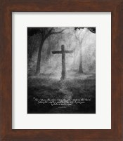 Jeremiah 29:11 For I know the Plans I have for You (Black & White Cross) Fine-Art Print