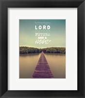 Jeremiah 29:11 For I know the Plans I have for You (Lake House Color) Fine-Art Print