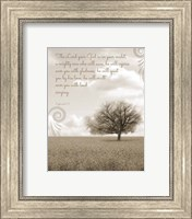 Zephaniah 3:17 The Lord Your God (Grey Landscape) Fine-Art Print