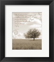 Zephaniah 3:17 The Lord Your God (Grey Landscape) Fine-Art Print