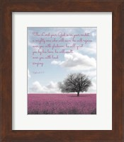 Zephaniah 3:17 The Lord Your God (Colored Landscape) Fine-Art Print