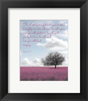 Zephaniah 3:17 The Lord Your God (Colored Landscape) Fine-Art Print