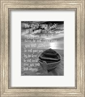 Zephaniah 3:17 The Lord Your God (Beach Black & White) Fine-Art Print