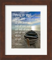 Mark 12:30 Love the Lord Your God (Boat) Fine-Art Print