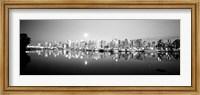 Vancouver Skyline, British Columbia, Canada BW Fine-Art Print