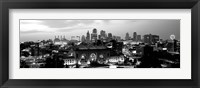 Union Station at sunset with city skyline in background, Kansas City, Missouri BW Fine-Art Print