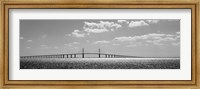 Bridge across a bay, Sunshine Skyway Bridge, Tampa Bay, Florida Fine-Art Print