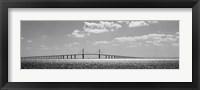 Bridge across a bay, Sunshine Skyway Bridge, Tampa Bay, Florida Fine-Art Print