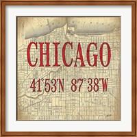 Chicago Latitude and Longitude Fine-Art Print