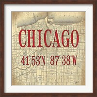 Chicago Latitude and Longitude Fine-Art Print