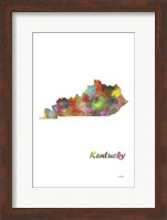 Kentucky State Map 1 Fine-Art Print