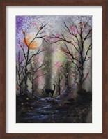 Black Cat In Forest Fine-Art Print