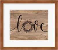 Love Wreath (Brown) Fine-Art Print