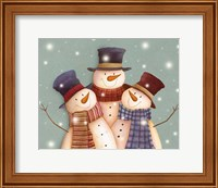 Friends - Snowmen Fine-Art Print