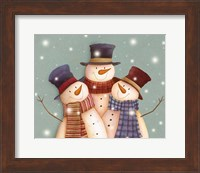 Friends - Snowmen Fine-Art Print