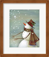 Christmas Magic Snowman Fine-Art Print