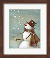 Christmas Magic Snowman Fine-Art Print