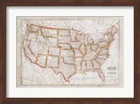 Map of USA Fine-Art Print