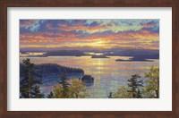 Sunset Over The San Juan Islands Fine-Art Print