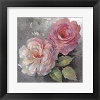 Roses on Gray I Fine-Art Print