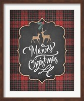 Merry Christmas with Deer Fine-Art Print