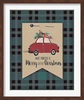 Merry Little Christmas Plaid Fine-Art Print