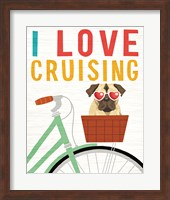 Beach Bums Pug Bicycle I Love Fine-Art Print