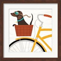 Beach Bums Dachshund Bicycle I Fine-Art Print