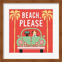 Beach Bums Beetle I Square Fine-Art Print