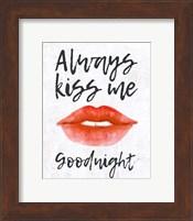 Lips - Kiss Me Goodnight Fine-Art Print