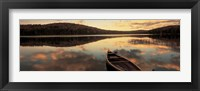 Water And Boat, Maine, New Hampshire Border Fine-Art Print