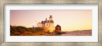 Lighthouse at the coast, Rose Island Light, Newport, Rhode Island, New England Fine-Art Print