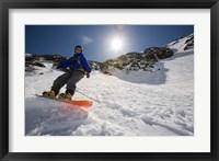 Snowboarder in Tuckerman Ravine, White Mountains National Forest, New Hampshire Fine-Art Print