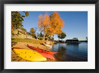 Kayaks at Lake Winnipesauke, New Hampshire Fine-Art Print