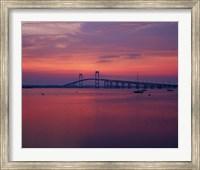 The Newport Bridge at sunset, Newport, Rhode Island Fine-Art Print